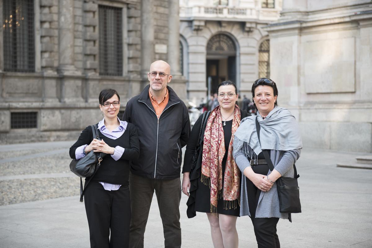 MONICA, MAURIZIO, MONICA, STEFANIA // Team di progetto Storie di Annagiò // Monza