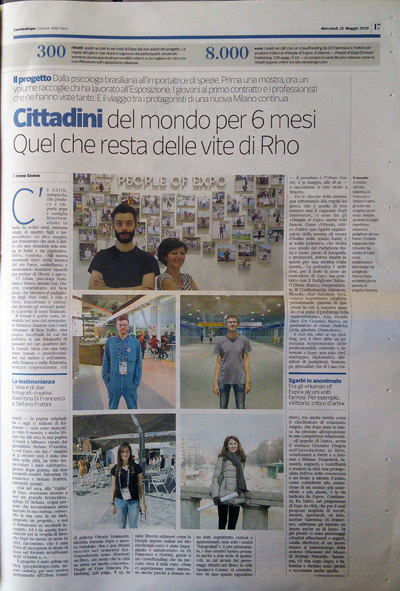 People of Expo @Corriere della Sera